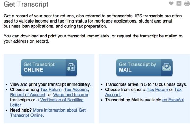 FAQ] How do I download a tax transcript from IRS.gov? | E Pluribus Unum