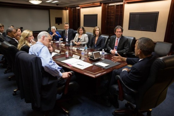 PCLOB Board Members meet with President Obama on June 21, 2013​. Photo by Pete Souza.