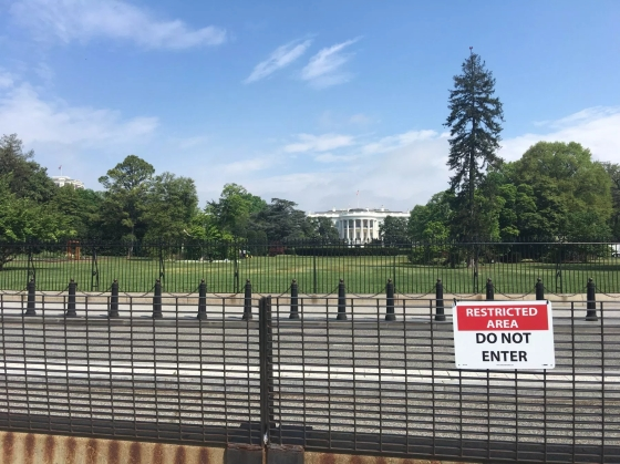 restricted area white house