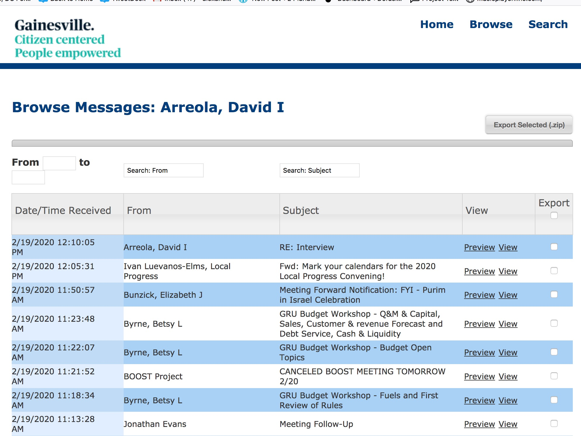 City_of_Gainesville_Commissioner_Mail_Archive_-_Message_Archive